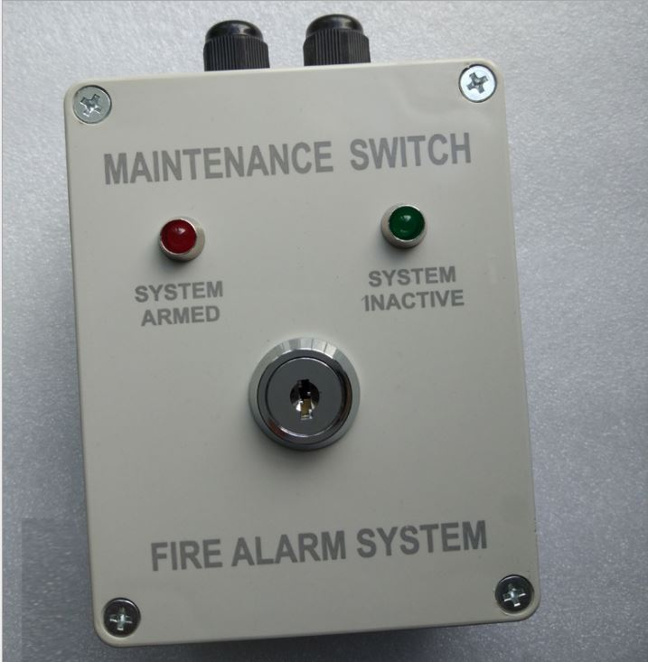 Fire Security System Maintence Panel key switch