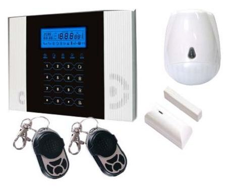 Newest GSM alarm system w PIR door contact wireless security