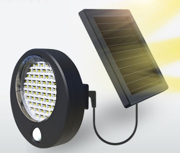 Solar power motion light courtyard lighting