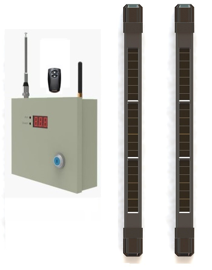Window intrusion alert solar wireless alarm beam system