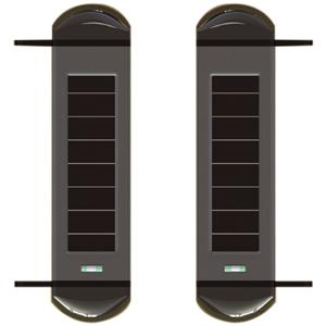 Alarm Detector Solar-powered 3 beams sensor Active detector